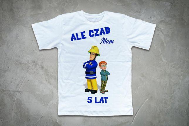 Koszulka strażak sam ale czad mam 5 lat nowa dla chłopca urodzinowa