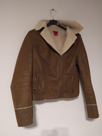 Brązowa kurtka kożuszek George  40