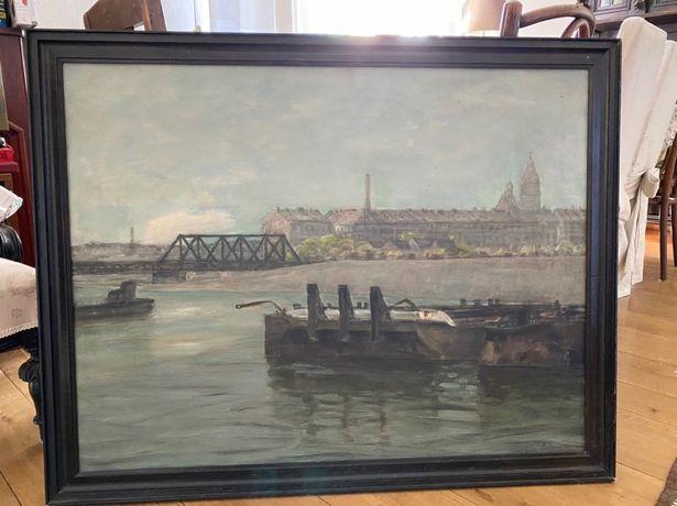 Jan Matasz Obraz olejny w ramie 104x82