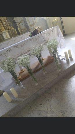 Świece wysokie ślub wesele