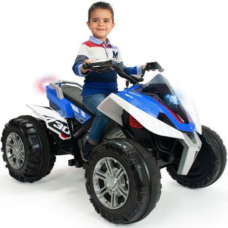 super niebieski Quad Elektryczny Rage 12V niebieski dla dzieci
