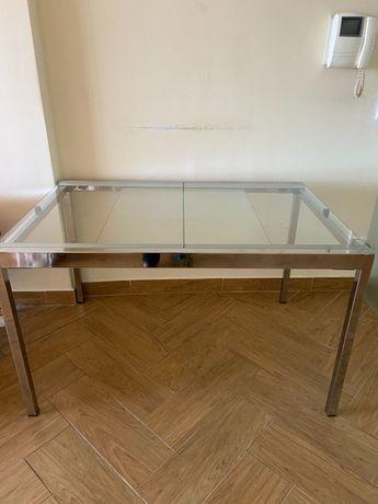 Mesa sala extensível em vidro IKEA