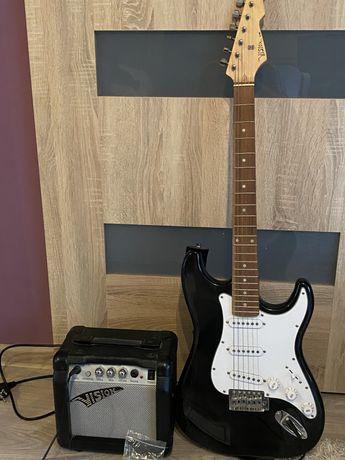 Gitara elektryczna + piecyk firmy Vision