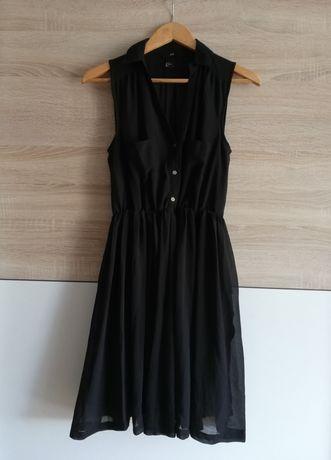Sukienka z kołnierzem czarna - H&M 34