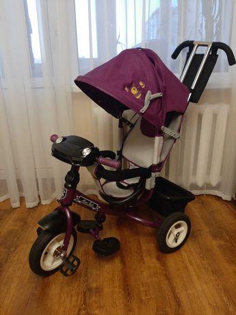 Велосипед триколісний на надувних колесах Mini Trike Фіолетово-сірий