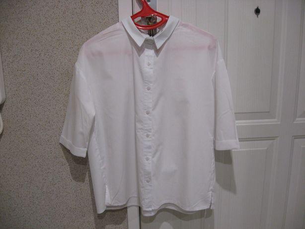 Sempre-biała koszula z kokardą na plecach, roz. S.
