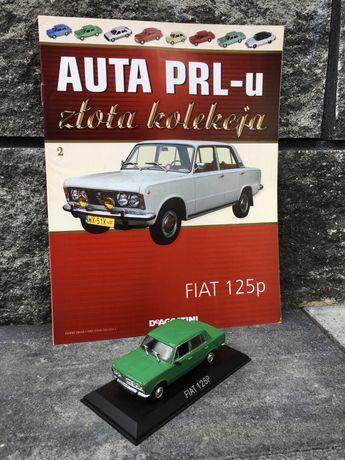 Kolekcjonerski FIAT 125P-auta PRL,model,autka,resoraki,kolekcja,auto