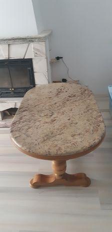 Solidna Ława stół stolik z granitowym blatem