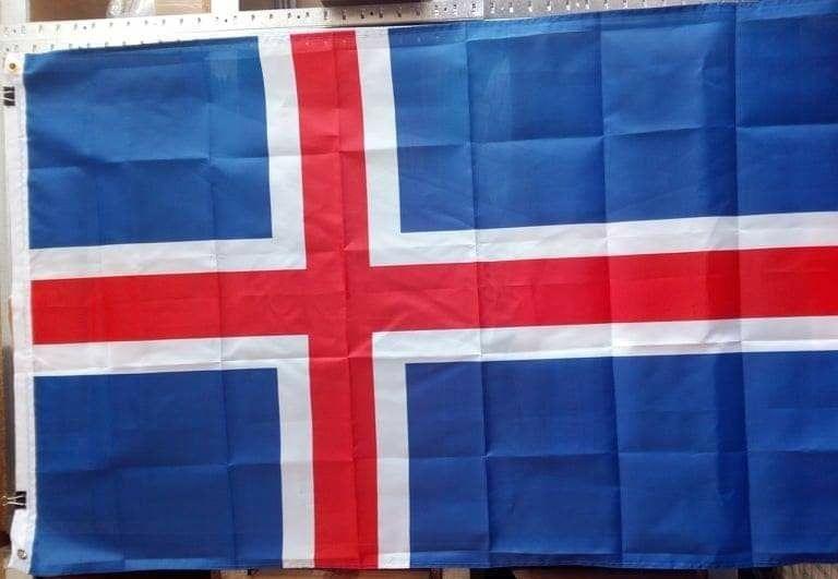 Флаг Исландии 90х150см с крепежной полосой яркий Херсон - изображение 1