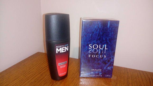 Zestaw męski: woda toaletowa Soul Focus i spray do ciała