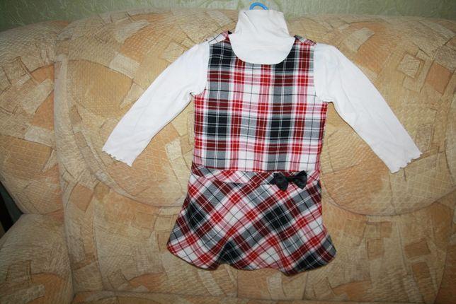 Красивое фланелевое платье-сарафан Childrens Place, размер 3Т