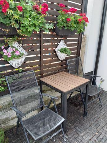 Komplet ogrodowy Stół Ikea +2 Krzesla