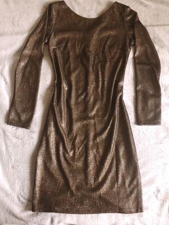 Платье золотое