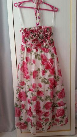 Нарядный сарафан платье в пол на девочку 8-11 лет
