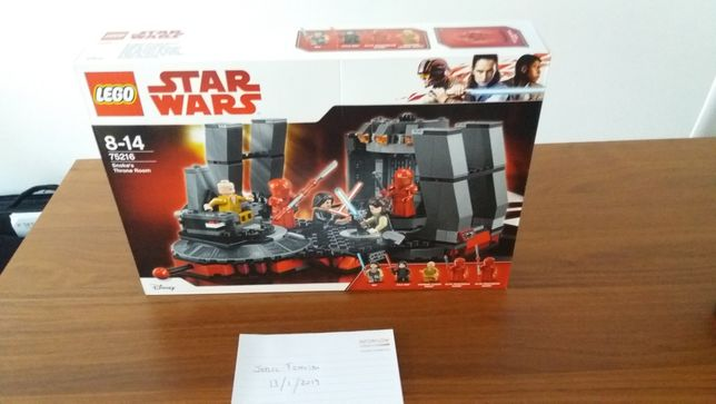 Lego Star Wars 75216 Snoke's Throne Room.