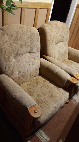 Fotele + pufy ze schowkiem