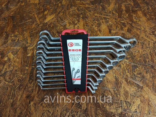 Качественный набор накидных ключей 12 шт 6-32 мм накидні ключі