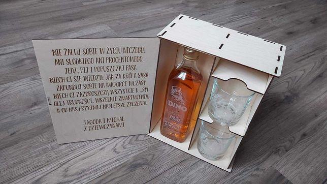 Skrzynka na alkohol personalizowana. ślub, urodziny, kawalerski