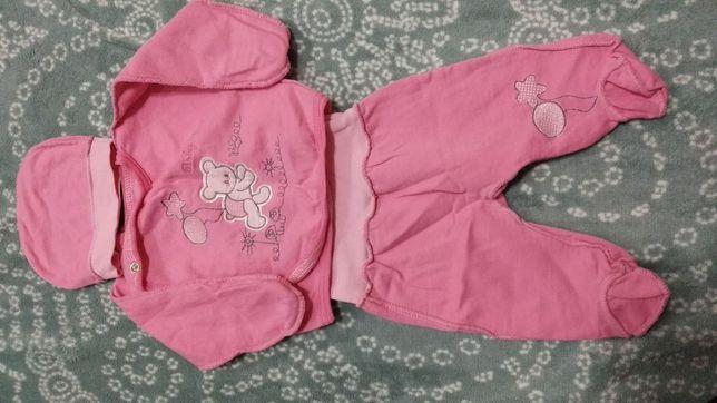 Костюм комплект для новорожденных 0-3 мес для выписки