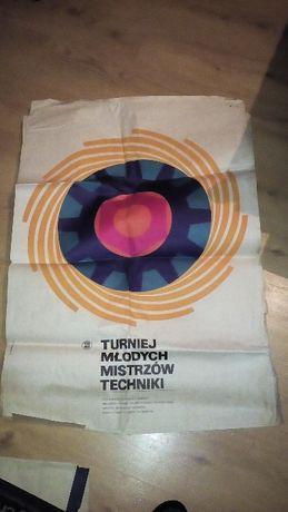 Stary Plakat z okresu PRL Socjalistyczny