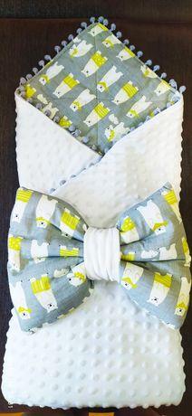 Конверт- одеяло для выписки демисезон