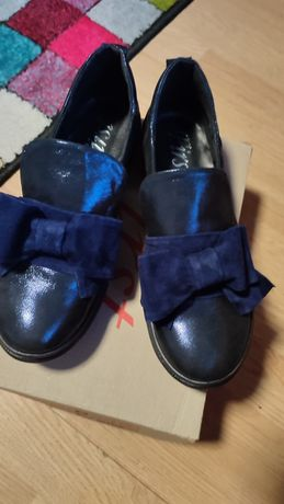 Туфли ботинки с бантом натуральная кожа 39р
