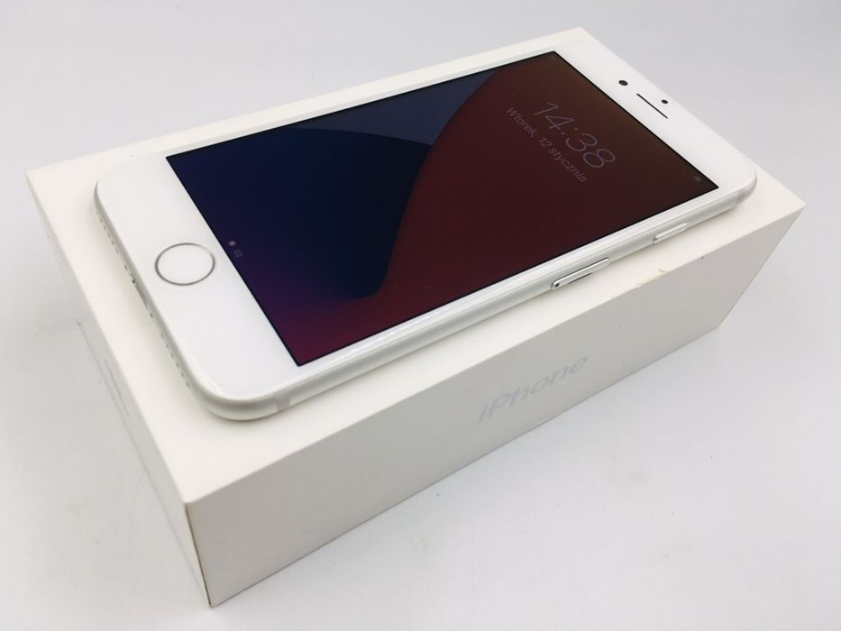 iPhone 7 128GB SILVER • NOWA bateria • GWAR 1 MSC • AppleCentrum Wrocław - image 1