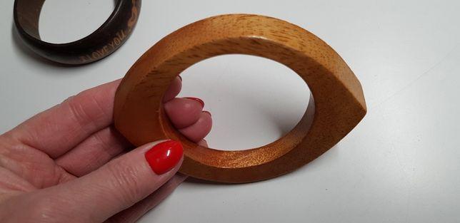 Bransoletka drewniana 2 wzory
