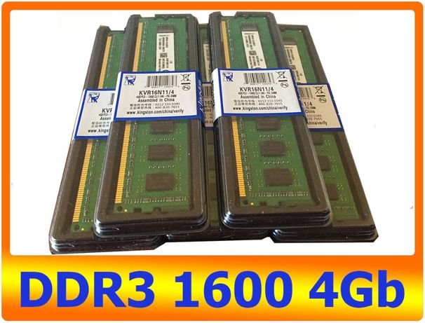 DDR3 4GB 1600 Mhz Kingston PC3-12800! Распродажа!