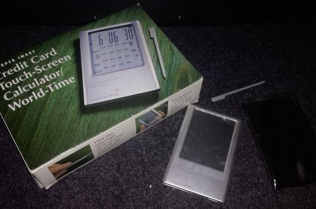 Kalkulator dotykowy z rysikiem aluminiowa obudowa mały kieszonkowy