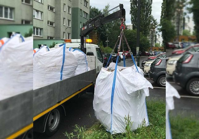 Wywóz gruzu, odpadów budowlanych. Worki na big bag