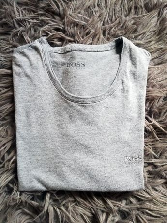 Szara koszulka Hugo Boss S