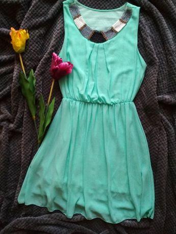 Miętiwa zwiewna sukienka
