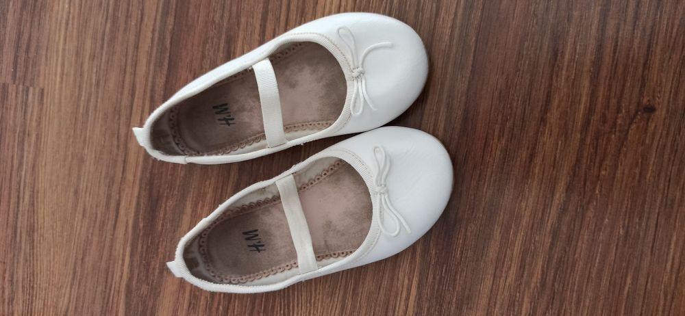 Baletki h&m 25 białe dla dziewczynki eleganckie miękkie wygodne Tarnów - image 1