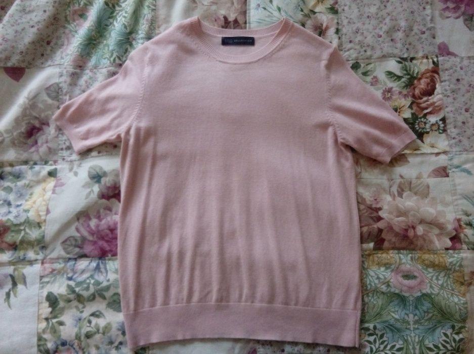 Morelowa różowa sweterkowa bluzeczka M L Waliły-Stacja - image 1
