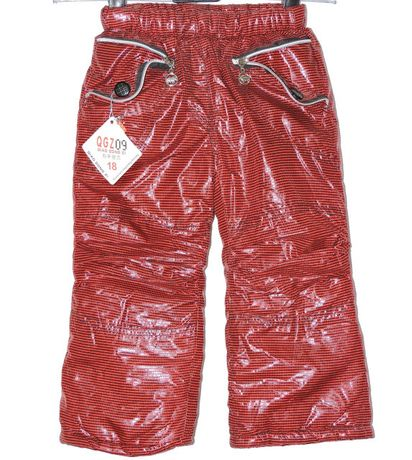 Теплые детские штаны, плащевка на синтепоне и флисе /термо одяг дитячі