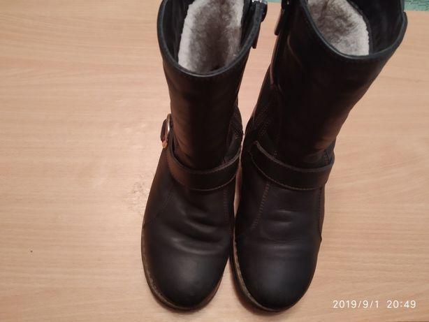 Зимние кожаные сапоги р.29