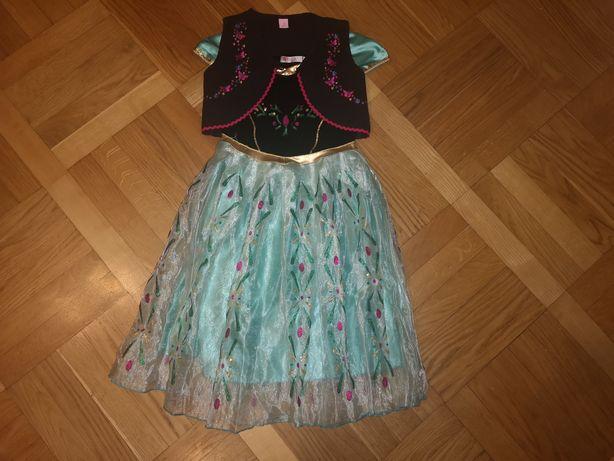 Sukienka Anny z Krainy Lodu, Kraina Lodu Frozen roz.150 cm