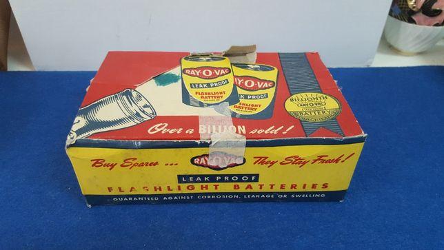Antiga caixa de cartão com publicidade ás pilhas Ray-O-Vac