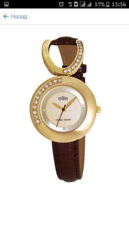 Elite 5265 часы оригинал позолота Сваровски