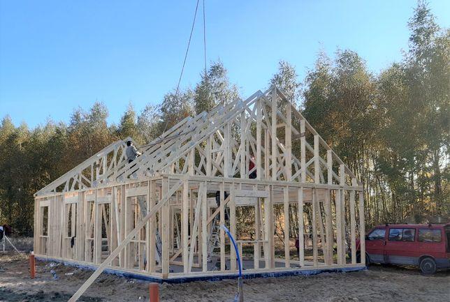 Domy drewniane, konstrukcje szkieletowe, konstrukcje dachowe