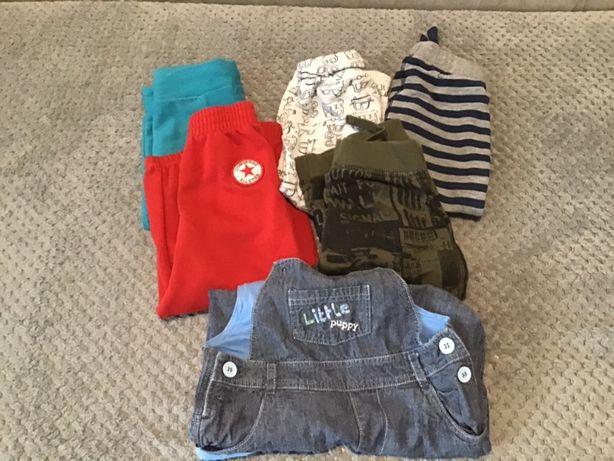 Zestaw 6 par spodni chłopiec, Converse, Beneton, M&S 80/86r.