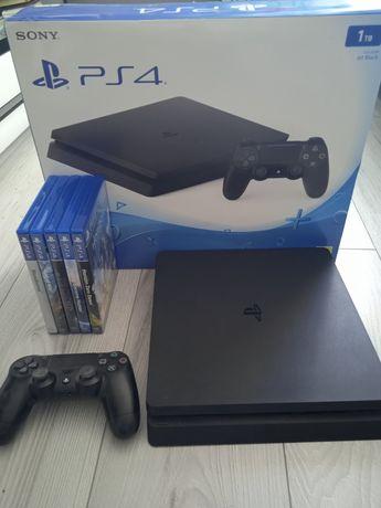 PS4 slim 1TB stan doskonały