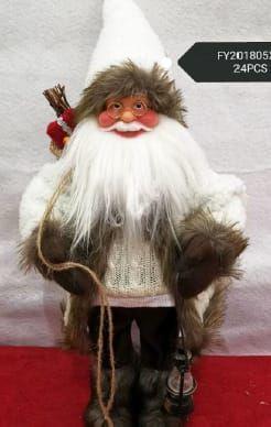 Mikołaj świąteczny grajacy - ozdoba bożonarodzeniowa Wielkość : 40 cm Tychy - image 1