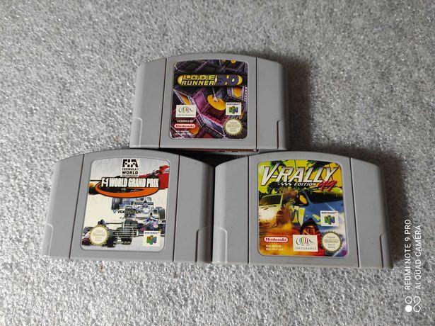 3 Jogos para Nintendo 64 N64 Lode Runner V-Rally World GP