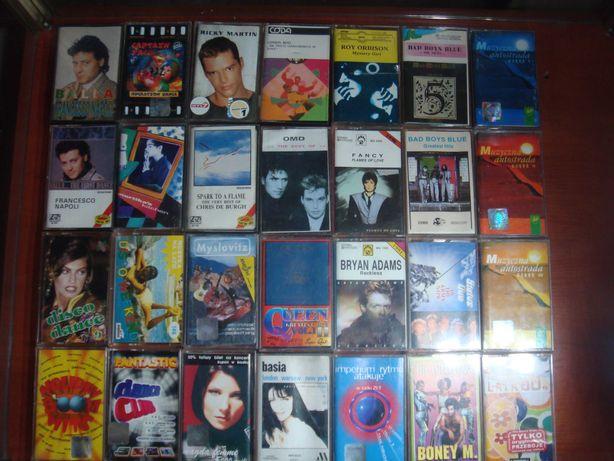 Kasety magnetofonowe Fancy  OMD Bad Boys Blue i inne zestaw 28 szt.