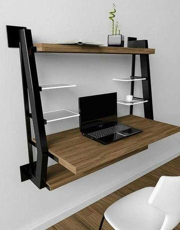 Stelaż pod biurko naścienne w stylu loft.