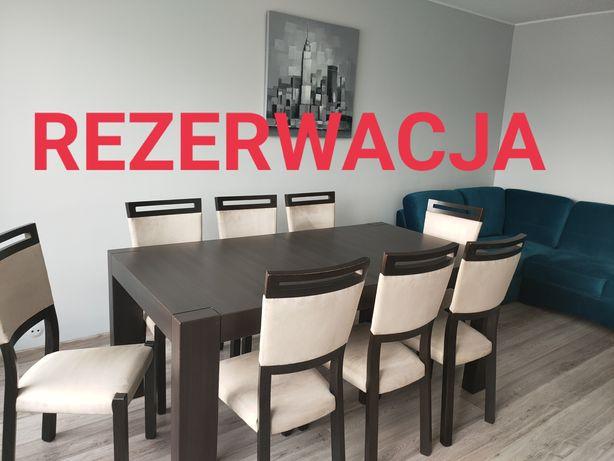 REZERWACJA Stół Sto Kaspian 180-240/95/77, Krzesła Orient, Ława Rumbi