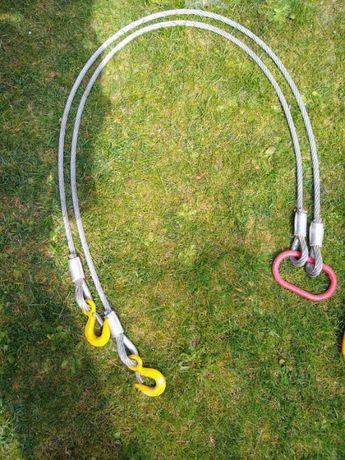 Zawiesie linowe z hakami 2 t