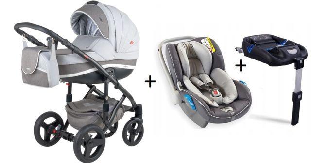 Wózek ADAMEX Vicco 4w1 + fotelik samochodowy + baza ISOFix